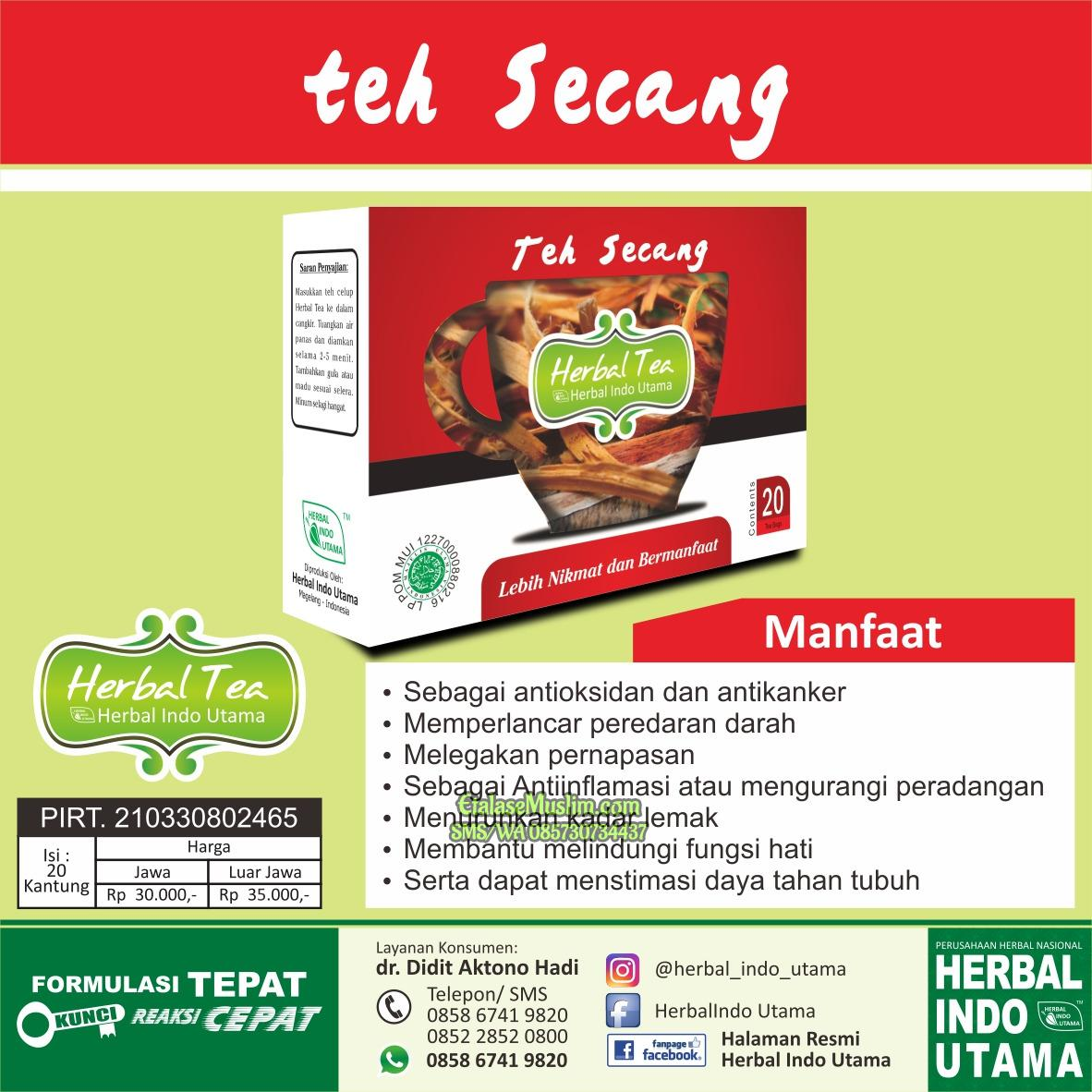 Teh Secang HIU - Herbal Indo Utama - Herbal Tea Secang