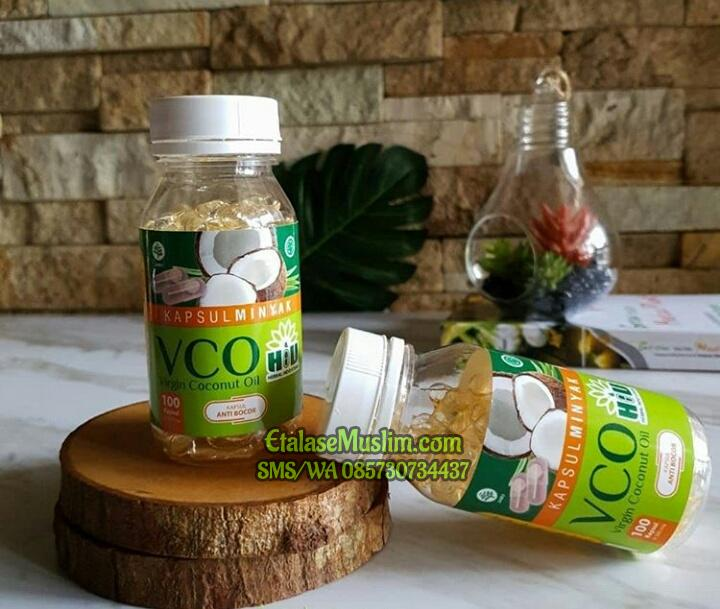 Kapsul Minyak VCO Virgin Coconut Oil POM TR - HIU - Herbal Indo Utama